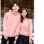 เสื้อกันหนาวคู่รักพร้อมส่ง แฟชั่นคู่รัก ชาย +หญิงเสื้อกันหนาวแบบสวม มีฮูด สีชมพู thumbnail 3