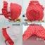 หมวกเด็กหญิงสีแดง สีชมพูเข้ม PB34 thumbnail 2