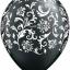"""ลูกโป่งกลมพิมพ์ลาย Damask Print Balloons (Black & White) แพ็คละ 10 ใบ(Round Balloons 12""""- Printing Damask Print Balloons (Black & White) thumbnail 6"""