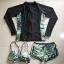 พร้อมส่ง ชุดว่ายน้ำแขนยาว เซ็ต 3 ชิ้น บรา+กางเกงขาสั้น+เสื้อแขนยาว โทนสีเขียวเหลืองดำ thumbnail 11