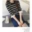 เสื้อแฟชั่นเกาหลี แขน 2 สวย แต่งแขนด้วยผ้าแก้วแต่งโบว์น่ารัก ๆ สีดำ thumbnail 5
