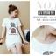 เดรสแฟชั่นเกาหลี แต่งลูกไม้ที่ชายกระโปรง พิมพ์ลาย ตามภาพ เนื้อผ้า cotton VIP : 260 thumbnail 3