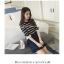 เสื้อแฟชั่นเกาหลี แขน 2 สวย แต่งแขนด้วยผ้าแก้วแต่งโบว์น่ารัก ๆ สีดำ thumbnail 1