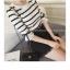 เสื้อแฟชั่นเกาหลี แขน 2 สวย แต่งแขนด้วยผ้าแก้วแต่งโบว์น่ารัก ๆ สีขาว thumbnail 4