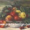 กระดาษสาพิมพ์ลาย สำหรับทำงาน เดคูพาจ Decoupage แนวภาำพ บ้านและสวน ชามกระเบื้อง ใส่แอปเปิ้ล สาลี่ เป็นภาพแนวภาพวาดสีฟุ้งๆ (ปลาดาวดีไซน์)