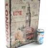 กล่องเก็บของทรงหนังสือแนววินเทจ ขนาดใหญ่ L ลาย Love My London