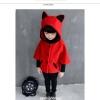 เสื้อกันหนาวแฟชั่นเด็กสีแดงมีฮูท เก๋มาก น่ารักสไตล์เกาหลี ( ผ้าหนา )