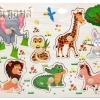 ของเล่นจิ๊กซอว์ไม้หมุดดึงภาพสัตว์ป่าน่ารัก