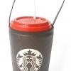 แก้วเก็บความเย็น สะดวกสบายด้วยหูหิ้ว ลาย Starbuck บนพื้นน้ำตาล เก็บความเย็นได้กว่า 5 ชั่วโมง