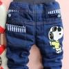 กางเกงยีนส์ Snoopy งานปัก (รุ่นหนานุ่ม)