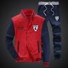 ชุดเสื้อแจ็คเก็ต-กางเกงขายาว : สีแดง - น้ำเงิน รุ่น KOMA ST0004