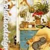 กระดาษสาพิมพ์ลาย สำหรับทำงาน เดคูพาจ Decoupage แนวภาำพ การ์ตูน แมวน้อยจอมซน พากันมาป่วนเล่นในสวนสวยหลังบ้าน