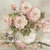 กระดาษสาพิมพ์ลาย สำหรับทำงาน เดคูพาจ Decoupage แนวภาำพ ภาพวาดดอกกุหลาบสีโอโรส กลีบสวย กลีบซ้อนหลายดอก สวยคลาสสิคในแจกันอย่างหรู (ปลาดาวดีไซน์)