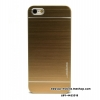 Motomo Metal Back Case Cover For Apple iPhone 5 Full Gold