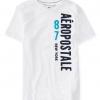 เสื้อยืดแฟชั่นผู้ชาย AEROPOSTALE 87 NY Vertical Logo Graphic T - BLEACH