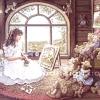 กระดาษสาพิมพ์ลาย rice paper เป็น กระดาษสา สำหรับทำงาน เดคูพาจ Decoupage แนวภาพ เจ้าหญิงจิตรกรน้อย ลงมือเพ้นท์รูปหมีหมู่ teddy bear เท็ดดี้ แบร์ เป็นที่ระลึก (ปลาดาว ดีไซน์)