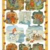 กระดาษตัดสำเร็จ ลายนูน ภาพเดี๋ยว แนววินเทจ ลายการ์ตุนน้องหมี น่ารักๆ ทั้งหมีบ้าน หมีป่า หมีขั้วโลกจำนวน 10 ชิ้น