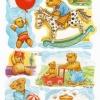 กระดาษตัดสำเร็จ ลายนูน ภาพเดี๋ยว แนววินเทจ เจ้าหมีน้อยเท็ดดี้แบร์กิจกรรม ต่างๆ รวม 7 ชิ้น