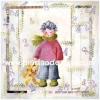 กระดาษเดคูพาจพิมพ์ลาย สำหรับทำงาน เดคูพาจ Decoupage งานฝีมือ งาน Handmade แนวภาพ หนุ่มน้อยน่ารักมาในชุดกันหนาวแนวเกาลี๊เกาหลีในมือหิ้วน้องหมี เท็ดดี้ แบร์ teddy bear มาด้วย (ปลาดาว ดีไซน์)