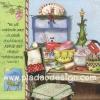 กระดาษอาร์ตพิมพ์ลาย สำหรับทำงาน เดคูพาจ Decoupage แนวภาพ อุปกรณ์เครื่องครัว ทำขนมรับเทศกาลคริสต์มาส สีสวยหวาน (ปลาดาวดีไซน์)