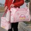 กระเป๋าใส่สัมภาระคุณแม่ เซต 3 ชิ้น ลายรถสีชมพู ราคาเซตละ 500 บาท