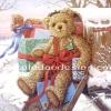 กระดาษสาพิมพ์ลาย rice paper เป็น กระดาษสา สำหรับทำงานฝีมือ เดคูพาจ Decoupage แนวภาพ คริสต์มาสปีนี้ เด็กคนไหนได้พี่หมี เท็ดดี้ แบร์ teddy bear ขนหยิกสีน้ำตาล ตัวใหญ่เป็นของขวัญที่ตู้ไปรษณีย์กันน๊า (pladao design)