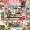 กระดาษสาพิมพ์ลาย สำหรับทำงาน เดคูพาจ Decoupage แนวภาำพ บ้านและสวน ร้านขายดอกไม้สไตล์ยุโรป มีดอกไม้หลากหลายสีสันนานาพันธุ์ (ปลาดาวดีไซน์)