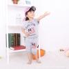ชุดเซตเด็ก เสื้อ +กางเกงสีเทา สกรีนที่หน้าอก มีฮูด น่ารักสไตล์เกาหลี เก๋มาก (ขนาด120)
