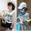 เสื้อกล้ามเด็ก สีเทามีลายหุ่นยนต์ด้านหน้า สไตล์เกาหลี น่ารักสุดๆ