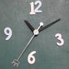ชุดตัวเครื่องนาฬิกาญื่ปุนเดินเรียบ เข็มลายโมเดิน ขนาดกลาง เข็มสั้น-เข็มยาวสีดำ เข็มวินาทีสีๅเงิน อุปกรณ์ DIY