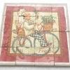 จิ๊กซอแมกเนต 16 ชิ้น ภาีพต่อเนื่อง ลายพ่อครัวปั่นจักยาน ในกรอบแดง