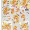 กระดาษ 3D สร้างลายนูน หมีน้อยนั่งเก้าอี้ กับ ในกรอบรูป กับช่อดอกไม้ 2 ภาพ ขนาด A4