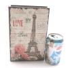 กล่องเก็บของทรงหนังสือแนววินเทจ ขนาดเล็ก S ลาย Love My Paris