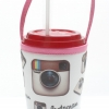 แก้วเก็บความเย็น สะดวกสบายด้วยหูหิ้ว ลาย Instagram เก็บความเย็นได้กว่า 5 ชั่วโมง