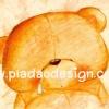 กระดาษสาพิมพ์ลาย สำหรับทำงาน เดคูพาจ Decoupage แนวภาำพ ภาพแนวการ์ตูน น้องหมี ฮอลล์มาร์ค Hallmarks bear น้องหมีทำหน้าหงอย ร้องไห้ น้ำตาหยดแหมะ (ปลาดาวดีไซน์)