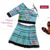 ชุดเกาะอก ผ้าชาวเขา HD016C / Elegant Expectation Dress HD016C