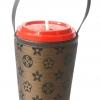 แก้วเก็บความเย็น สะดวกสบายด้วยหูหิ้ว ลาย Louis Vittion ลาย Monogram ผ้าสีเข้ม เก็บความเย็นได้กว่า 5 ชั่วโมง