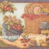กระดาษอาร์ตพิมพ์ลาย สำหรับทำงาน เดคูพาจ Decoupage แนวภาพ หวานๆซอฟท์ๆ ไปปูเสื่อปิคนิคกลางสวน มีตระกร้าหวายใส่ถ้วยชาม ขนมมัฟฟิ่น คุ๊กกี้ สตอเบอร์รี่ (ปลาดาวดีไซน์)