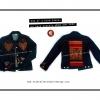 เสื้อแจ็คเก็ตยีนส์ C/ Vintage Denim Jacket Jeans with Triba Textile C