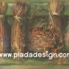 กระดาษสาพิมพ์ลาย สำหรับทำงาน เดคูพาจ Decoupage แนวภาำพ บ้านและสวน กำแพงแขวนดอกไม้แห้ง สำหรับทำ ดอกไม้อบ เป็นภาพแนวภาพวาดสีฟุ้งๆ (ปลาดาวดีไซน์)