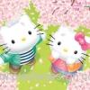 กระดาษสาพิมพ์ลาย สำหรับทำงาน เดคูพาจ Decoupage แนวภาำพ hello kitty ไปสวีท กับ Dear Daniel ใต้ต้นซากุระที่ญี่ปุ่น (ปลาดาวดีไซน์)