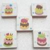 จิ๊กซอแมกเนต 5 ชิ้น ลายเค้กสองชั้น หวานๆ
