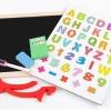 กระดานแม่เหล็ก 2 ด้าน แบบตั้งโต๊ะ - กล่องเหลือง (Children double faced wooden magnetic drawing board Alphanumeric Sketchpad)