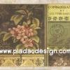 กระดาษสาพิมพ์ลาย สำหรับทำงาน เดคูพาจ Decoupage แนวภาำพ ดอกไม้สีชมพู บนซองจดหมายส่งไปปารีส Paris สไตล์วินเทจ (ปลาดาวดีไซน์)