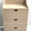 ชิ้นงานดิบไม้ MDF ทำ Decoupage งานเพนท์ ตู้เครื่องแป้ง 3 ชั้น ใช้ได้ทั้งแนพคินและกระดาษสาค่ะ