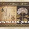 กระดาษสาพิมพ์ลาย สำหรับทำงาน เดคูพาจ Decoupage แนวภาำพ ดอกไฮเดรนเยีย สีม่วง วางอยู่บนจดหมายรัก สไตล์วินเทจ (ปลาดาวดีไซน์)