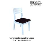 เก้าอี้ไม้จริง สีขาว เหมาะสำหรับร้านอาหาร ร้านกาแฟ (VW-COLLECTION)