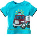 เสื้อเด็กเนื้อนิ่ม ลาย รถดับเพลิง1 ไซส์ 18-24ด