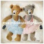 กระดาษเดคูพาจพิมพ์ลาย สำหรับทำงาน เดคูพาจ Decoupage งานฝีมือ งาน Handmade แนวภาพ 2 หมี เท็ดดี้ แบร์ teddy bear สาวนักบัลเลต่ ลีลาเด็ด เด็ดแค่ไหนมาดูกันเอง (pladao design)