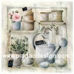 กระดาษเดคูพาจพิมพ์ลาย สำหรับทำงาน เดคูพาจ Decoupage งานฝีมือ งาน Handmade แนวภาพ บ้านและสวน อุปกรณ์ทำสวนสีพาสเทล สไตล์หวานหวาน (ปลาดาวดีไซน์)
